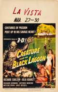 "Movie Posters:Horror, Creature from the Black Lagoon (Universal International, 1954).Window Card (14"" X 22"") 3-D Style.. ..."