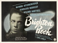 "Movie Posters:Crime, Brighton Rock (Pathe, 1947). British Quad (30"" X 40"").. ..."