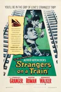 """Strangers on a Train (Warner Brothers, 1951). One Sheet (27"""" X 41"""")"""