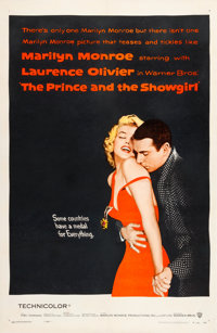 "The Prince and the Showgirl (Warner Brothers, 1957). One Sheet (27"" X 41"")"