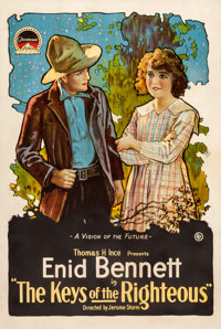 """The Keys of the Righteous (Paramount, 1918). One Sheet (28"""" X 42"""")"""