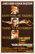 "Movie Posters:James Bond, Goldfinger (United Artists, 1964). One Sheet (27"" X 41"") MatteStyle.. ..."