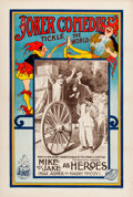 "Movie Posters:Comedy, Mike and Jake as Heroes (Universal Film Manufacturing, 1913). OneSheet (28"" X 42"").. ..."