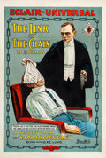 """Movie Posters:Drama, Link in the Chain (Universal Film Manufacturing, 1914). One Sheet (28"""" X 41.5"""").. ..."""