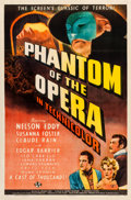 "Movie Posters:Horror, Phantom of the Opera (Universal, 1943). One Sheet (27"" X 41"") StyleD.. ..."