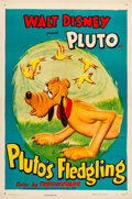 "Movie Posters:Animation, Pluto's Fledgling (RKO, 1948). One Sheet (27"" X 41"").. ..."