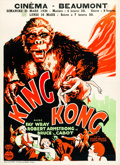 "Movie Posters:Horror, King Kong (RKO, 1933). Pre-War Belgian (24"" X 33"").. ..."