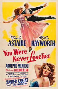 "You Were Never Lovelier (Columbia, 1942). One Sheet (27"" X 41"") Style A"