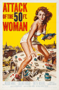 """Movie Posters:Science Fiction, Attack of the 50 Foot Woman (Allied Artists, 1958). One Sheet (27""""X 41"""").. ..."""