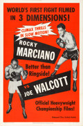 "Movie Posters:Sports, Rocky Marciano vs. Joe Walcott (United Artists, 1953). One Sheet(27"" X 41"") 3-D Style.. ..."
