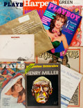 Books:Periodicals, Henry Miller. Group of Periodicals Relating to Henry Miller. Various publications, Mid to late twentieth century. One signed... (Total: 10 Items)