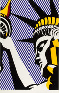 Post-War & Contemporary:Contemporary, ROY LICHTENSTEIN (American, 1923-1997). I Love Liberty,1982. Screenprint in colors. 33-5/8 x 21-1/8 inches (85.4 x 53.7...