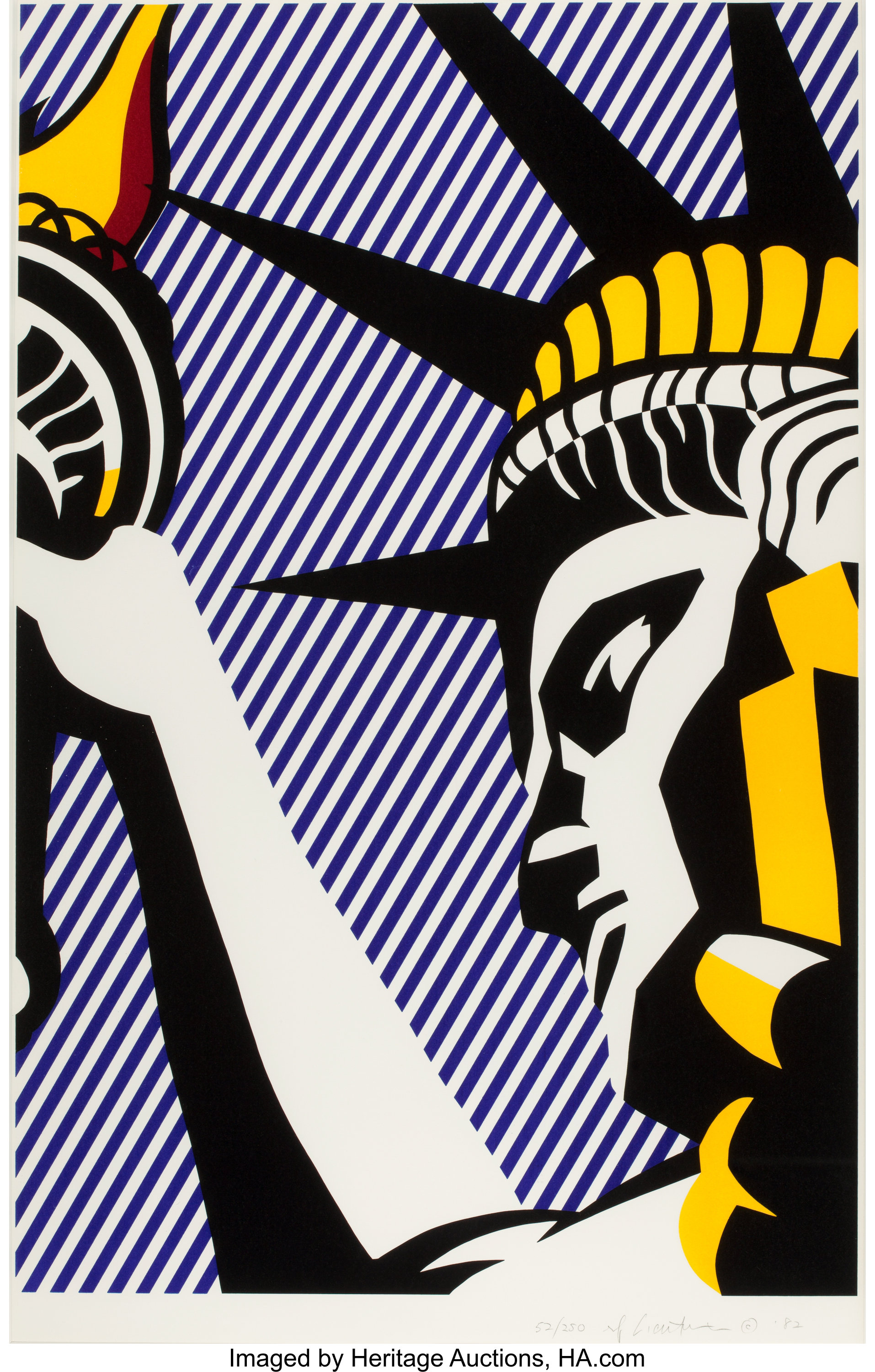 ROY LICHTENSTEIN (American, 1923-1997). I Love Liberty, 1982. | Lot #76103 | Heritage Auctions