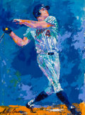 Baseball Collectibles:Others, 1986 Rusty Staub Original Painting by LeRoy Neiman....
