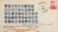 """Autographs:Military Figures, Admiral Husband E. Kimmel First Day Cover Signed. 6.5"""" x 3.5"""". Cachet commemorating the admission of the then 48 states into..."""