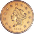 Territorial Gold, 1855 $50 Wass Molitor Fifty Dollar MS63 NGC. K-9, R.5....