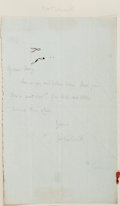 Autographs:Authors, Mary Louisa Molesworth (1839-1921, English writer). Autograph Letter Signed. N.d. Measures 4.5 x 7. Topped onto backing....