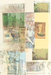 ROBERT RAUSCHENBERG (American, 1925-2008) Arcanum IV, 1981 Silkscreen in colors with collage 22-1