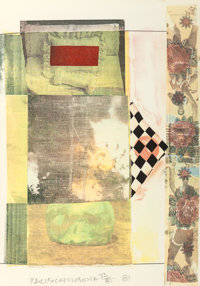 ROBERT RAUSCHENBERG (American, 1925-2008) Arcanum III, 1981 Silkscreen in colors with collage 22-