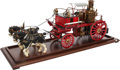 Paintings, LIVE STEAM MODEL HORSE-DRAWN VICTORIAN FIRE APPARATUS. 14 x 32 x 9 inches (35.6 x 81.3 x 22.9 cm). Finely engineered and aut...