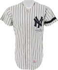 Baseball Collectibles:Uniforms, 1980 Whitey Ford Game Worn New York Yankees Coaches Jersey - With Ford LOA....