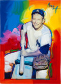 Baseball Collectibles:Others, 2009 Mickey Mantle Original Peter Max Artwork (Large)....