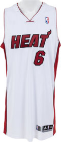 Basketball Collectibles:Uniforms, 2013-14 LeBron James Game Worn Miami Heat Jersey....