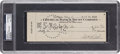 Baseball Collectibles:Others, 1942 Babe Ruth Signed Check, PSA/DNA Authentic....