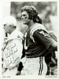 Autographs:Celebrities, [American Football]. Bert Jones Photograph Signed. Ca. 1976. Blackand white. Measures 8 x 10 inches. Jones was the starting...