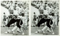 Autographs:Celebrities, [American Football]. Brad Edelman Photographs Signed. 1984. Two black and white photographs, each measuring 8 x 10 inche...