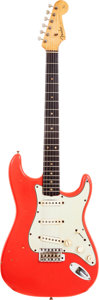 Musical Instruments:Electric Guitars, 1962 Fender Stratocaster Fiesta Red Solid Body Electric Guitar,Serial # 90623....