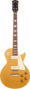 Musical Instruments:Electric Guitars, 1955 Gibson Les Paul Standard Gold Solid Body Electric Guitar,Serial # 510673....
