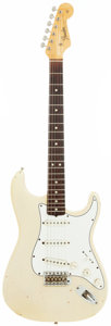 Musical Instruments:Electric Guitars, 1965 Fender Stratocaster Blonde Solid Body Electric Guitar, Serial # L69338....