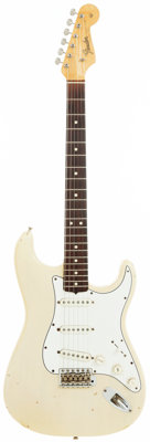 1965 Fender Stratocaster Blonde Solid Body Electric Guitar, Serial # L69338