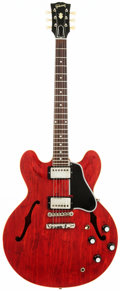 Musical Instruments:Electric Guitars, 1961 Gibson ES-335 Cherry Semi-Hollow Body Electric Guitar, Serial# 26447....