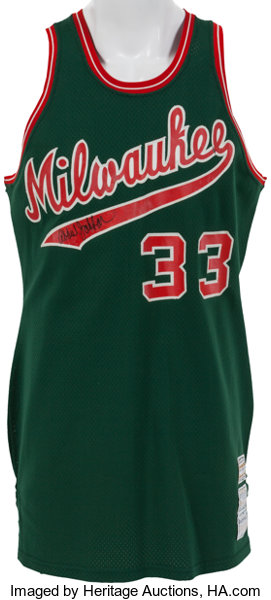 best loved 57aa5 ae8ac 1973-75 Kareem Abdul-Jabbar Game Worn Milwaukee Bucks Jersey ...