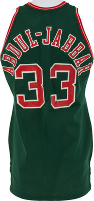 best loved 09dd2 264d9 1973-75 Kareem Abdul-Jabbar Game Worn Milwaukee Bucks Jersey ...