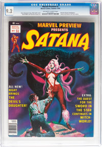 Marvel Preview #7 Satana (Marvel, 1976) CGC NM- 9.2 Off-white to white pages