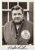 Baseball Collectibles:Photos, Mid 1940's Babe Ruth Signed Photographs Lot of 2....