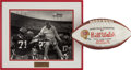 Football Collectibles:Others, 1979 Bill Walsh First NFL Victory Game Ball & Photograph....