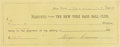 Baseball Collectibles:Others, 1887 Roger Connor Signed New York Giants Salary Receipt....