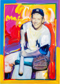 Baseball Collectibles:Others, 2009 Mickey Mantle Original Peter Max Artwork....