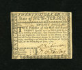 Colonial Notes:New Jersey, New Jersey June 9, 1780 $20 Extremely Fine. This is a fully signednote including the guarantee on the back. One of the face...