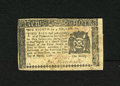 """Colonial Notes:New York, New York March 5, 1776 $1/8 Very Fine. Idle hands produced twosmall inked """"boxes"""" on the back...."""