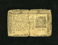 Colonial Notes:New York, New York March 5, 1776 $1/3 Very Good. The center fold showsseparation in the middle and at both ends with the longest bein...