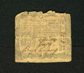 Colonial Notes:Pennsylvania, Pennsylvania April 3, 1772 2s/6d Very Good. The body of this notegrades Very Good but the note has been split and is sewn t...