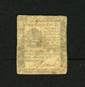 Colonial Notes:Pennsylvania, Pennsylvania April 25, 1776 9d Fine. This small change note isattractive with a bold signature and serial number still inta...