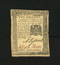 Colonial Notes:Pennsylvania, Pennsylvania April 25, 1776 2s Very Fine. This is a very pleasingexample from this popular issue that is well printed and b...