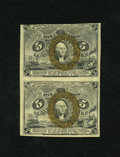 Fractional Currency:Second Issue, Fr. 1232 5c Second Issue Uncut Vertical Pair Choice New. This uncut vertical pair has been able to avoid the folds of handli...