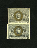 Fractional Currency:Second Issue, Fr. 1232 5c Second Issue New.. Fr. 1233 5c Second Issue Choice New.. ... (Total: 2 notes)